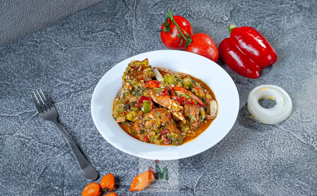Okro Soup with Fish & Meat (Half Pan / Family Size)